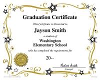 Grad Certificate_Stars