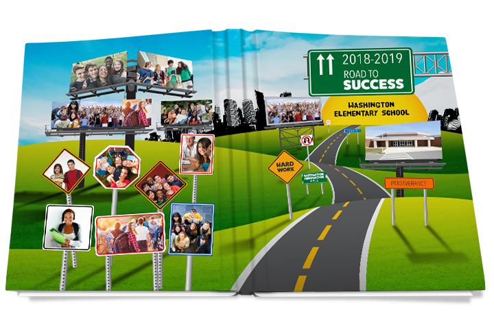road to success yearbook cover