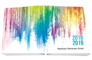 colorful yearbook cover