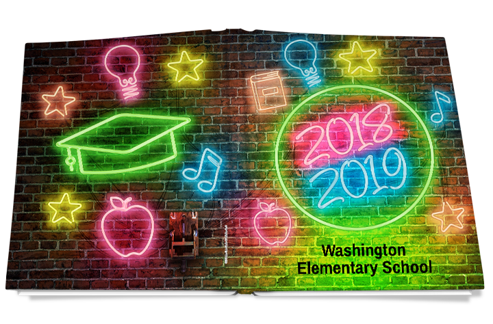 light up yearbook cover