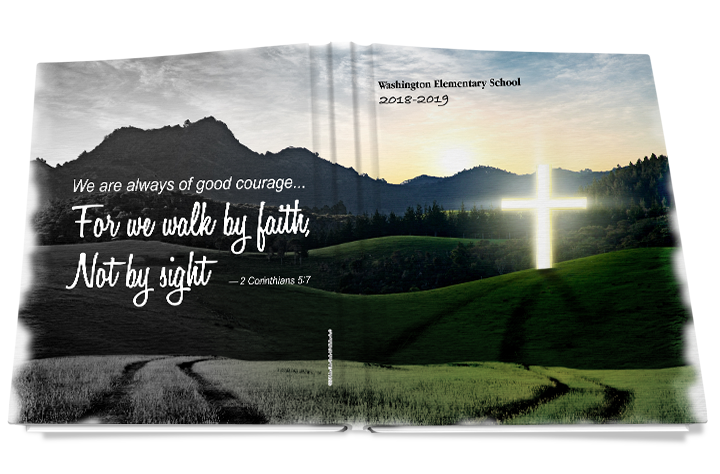 walk by faith yearbook cover