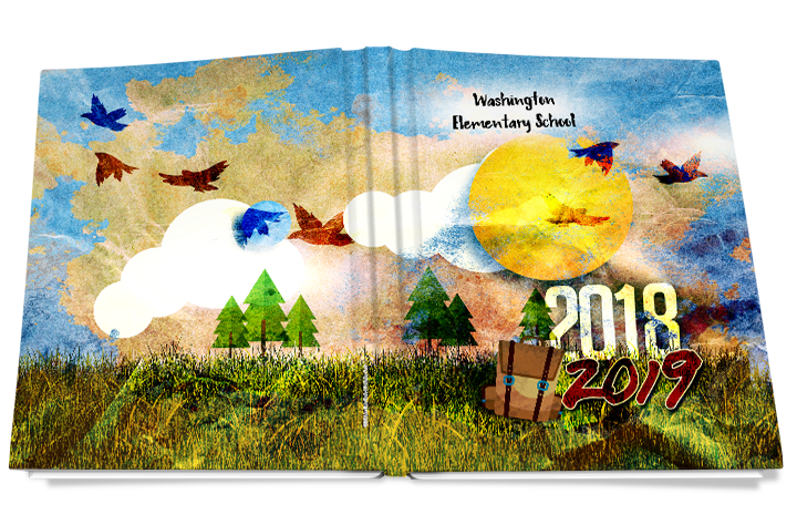 wild imagination yearbook cover