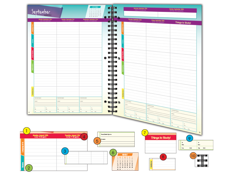 Elementary Planner Page Sample