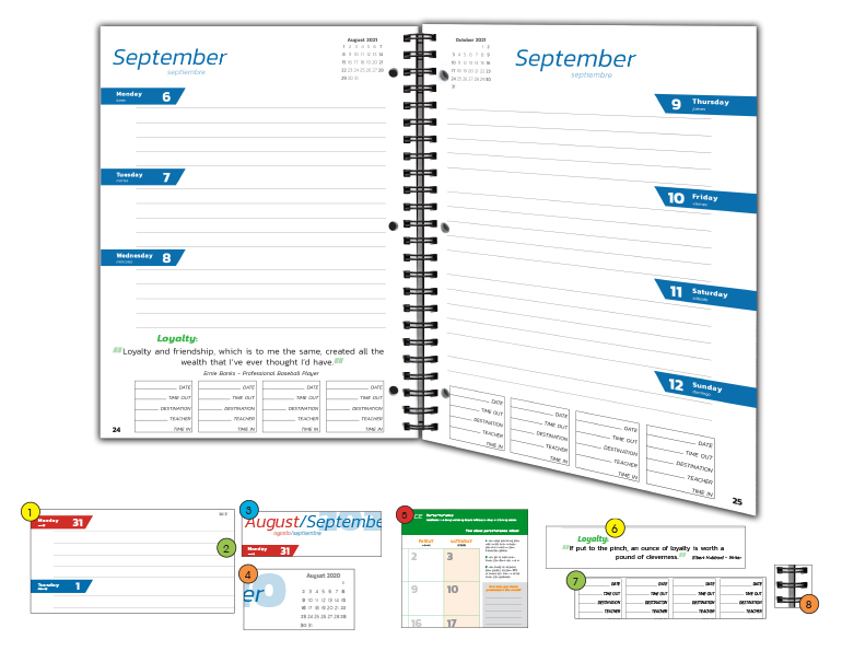 Secondary Planner Page Sample